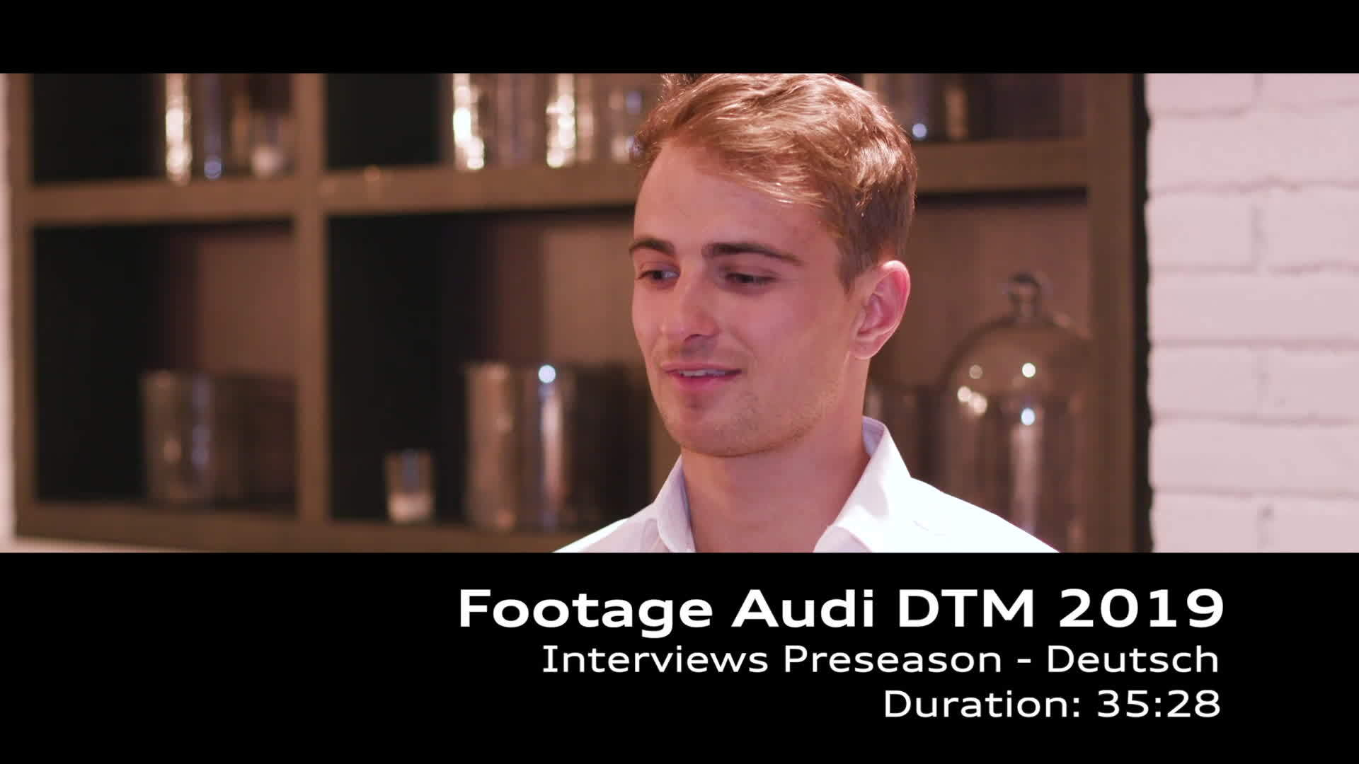 Footage Audi DTM 2019 Interviews