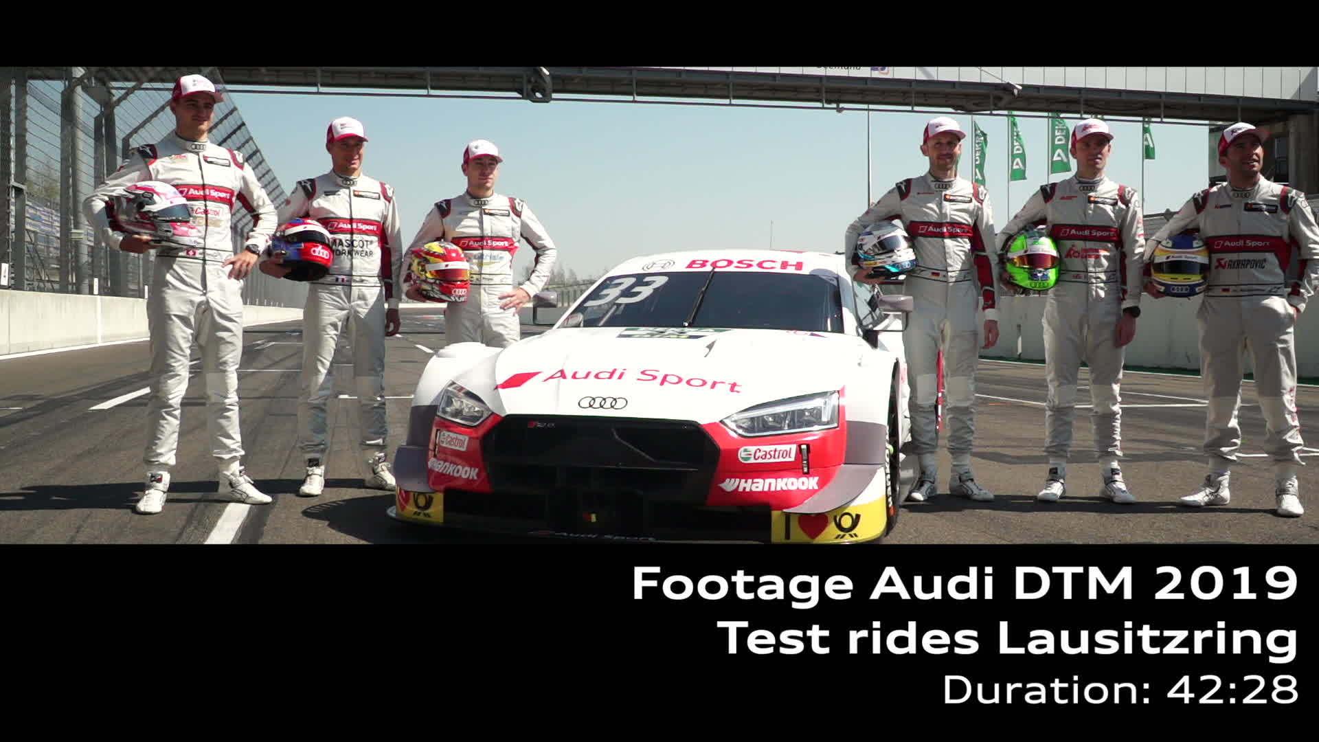 DTM test rides Lausitzring (footage)
