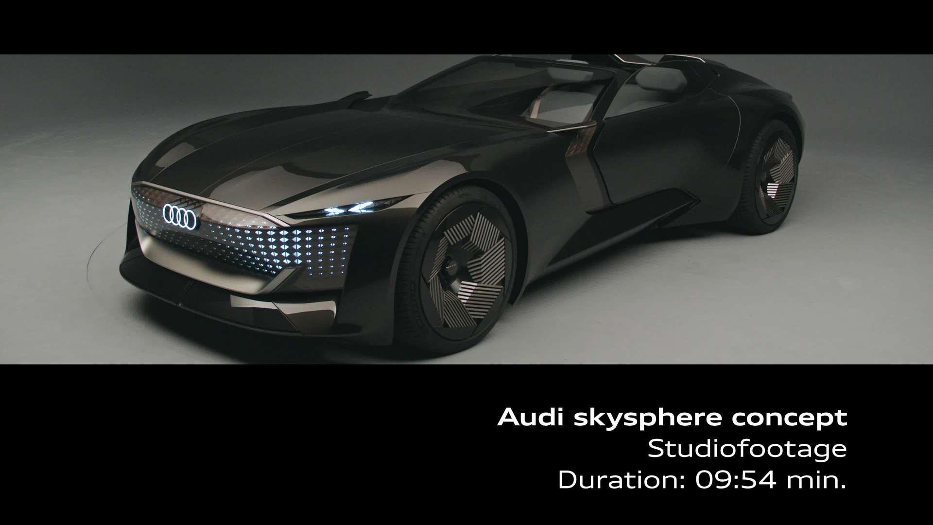 Footage: Audi skysphere concept im Studio
