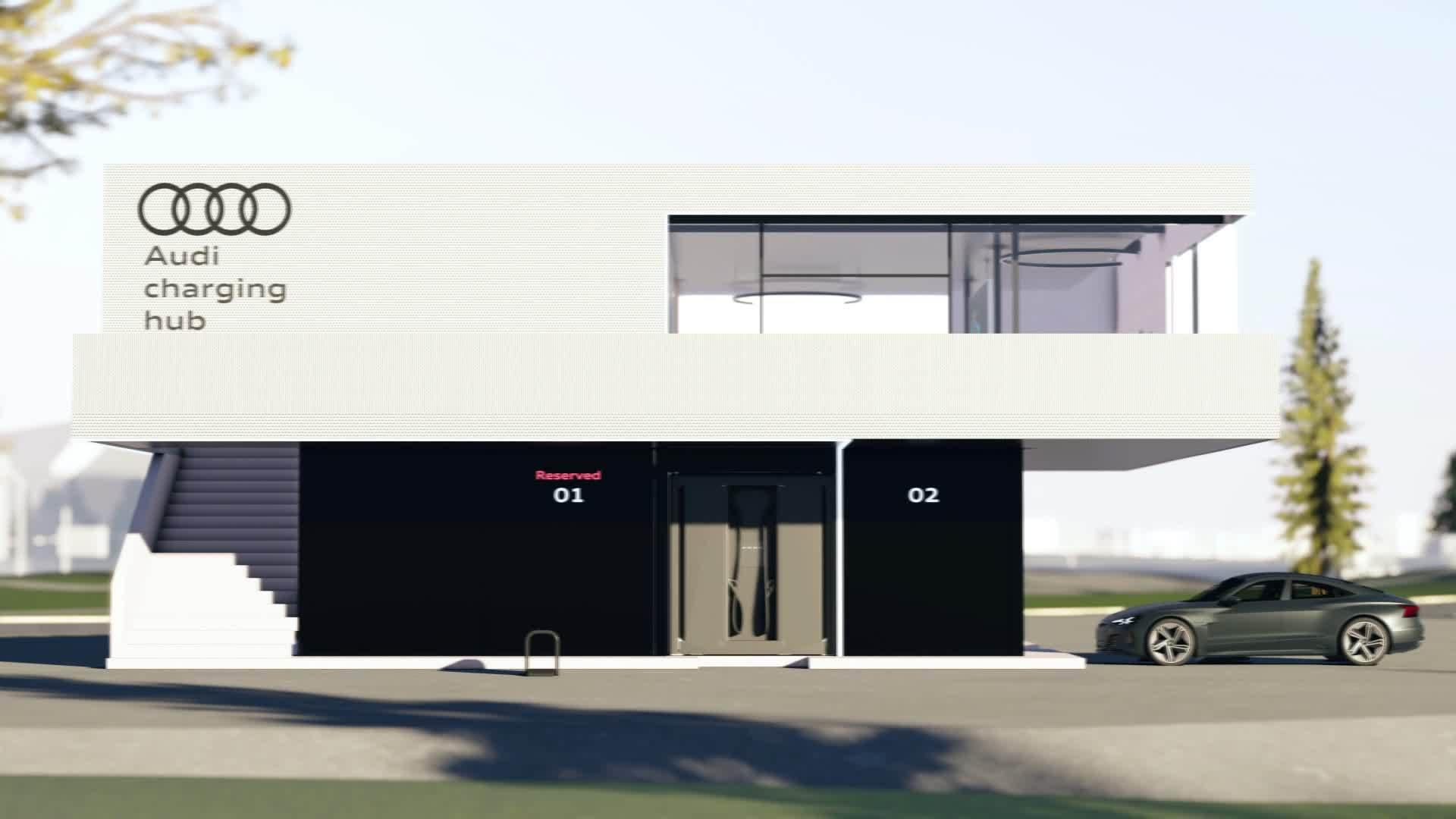 Ein neues Ladekonzept für Elektroautos: der Audi charging hub
