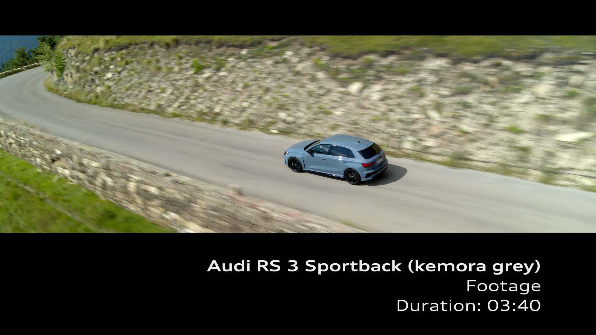 Footage: Audi RS 3 Limousine Kemoragrau
