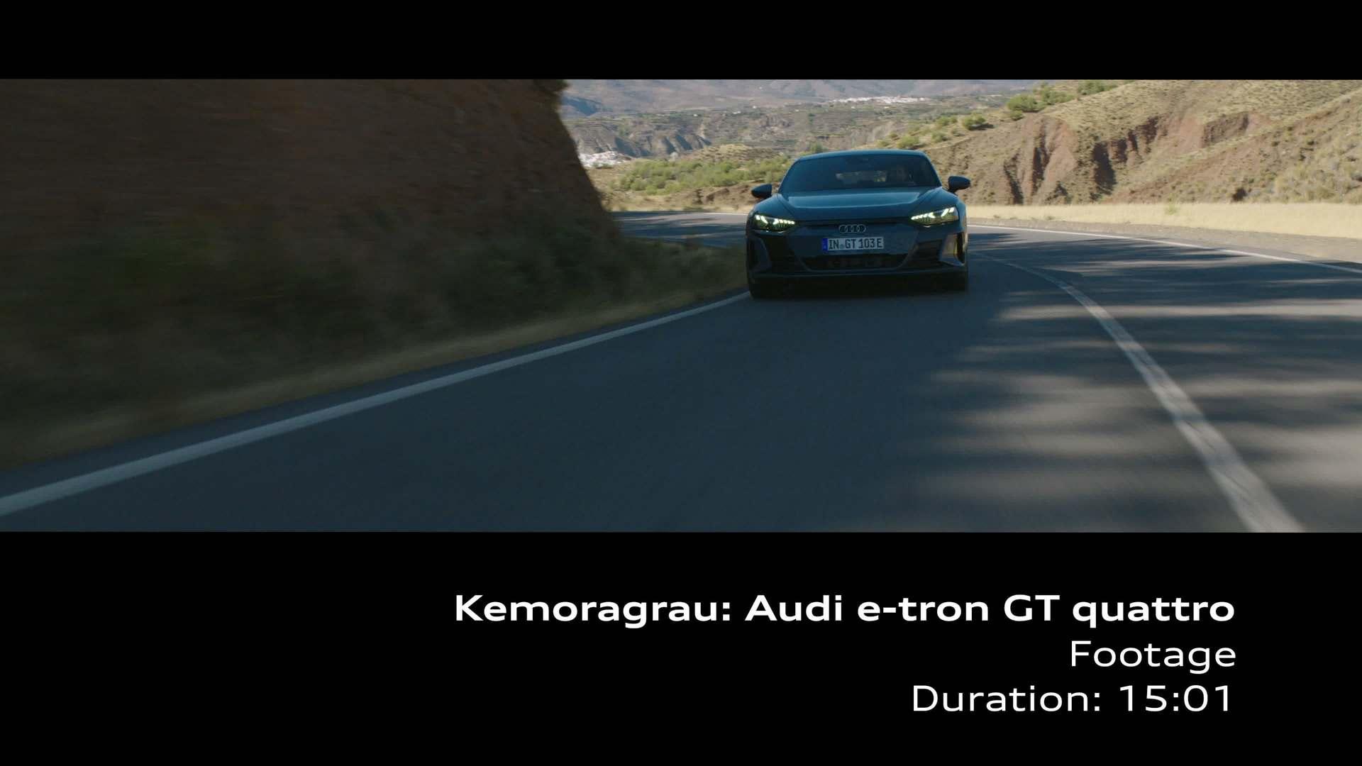 Footage: Audi e-tron GT quattro – Kemoragrau