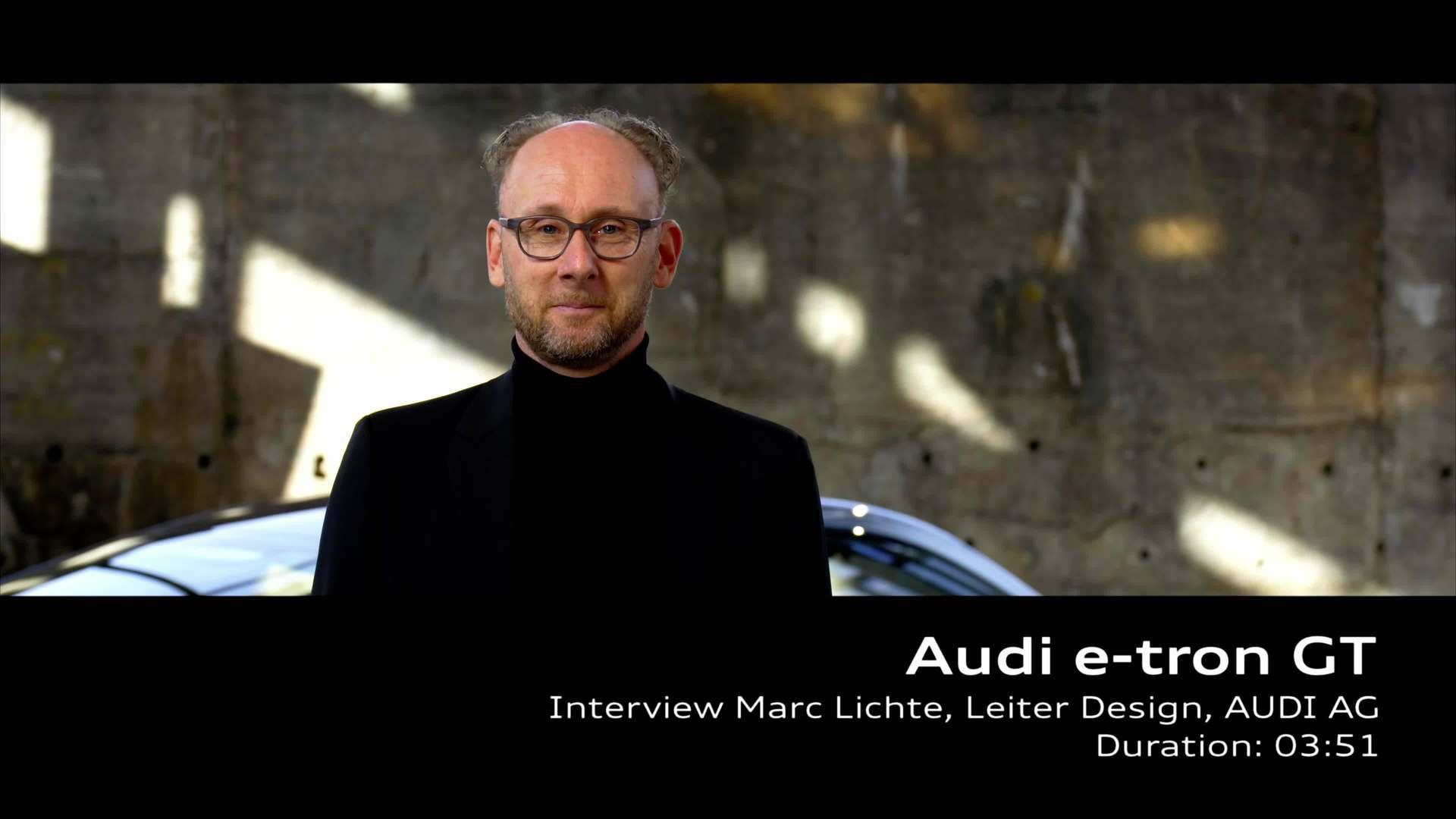 Audi e-tron GT experience: Interview Design