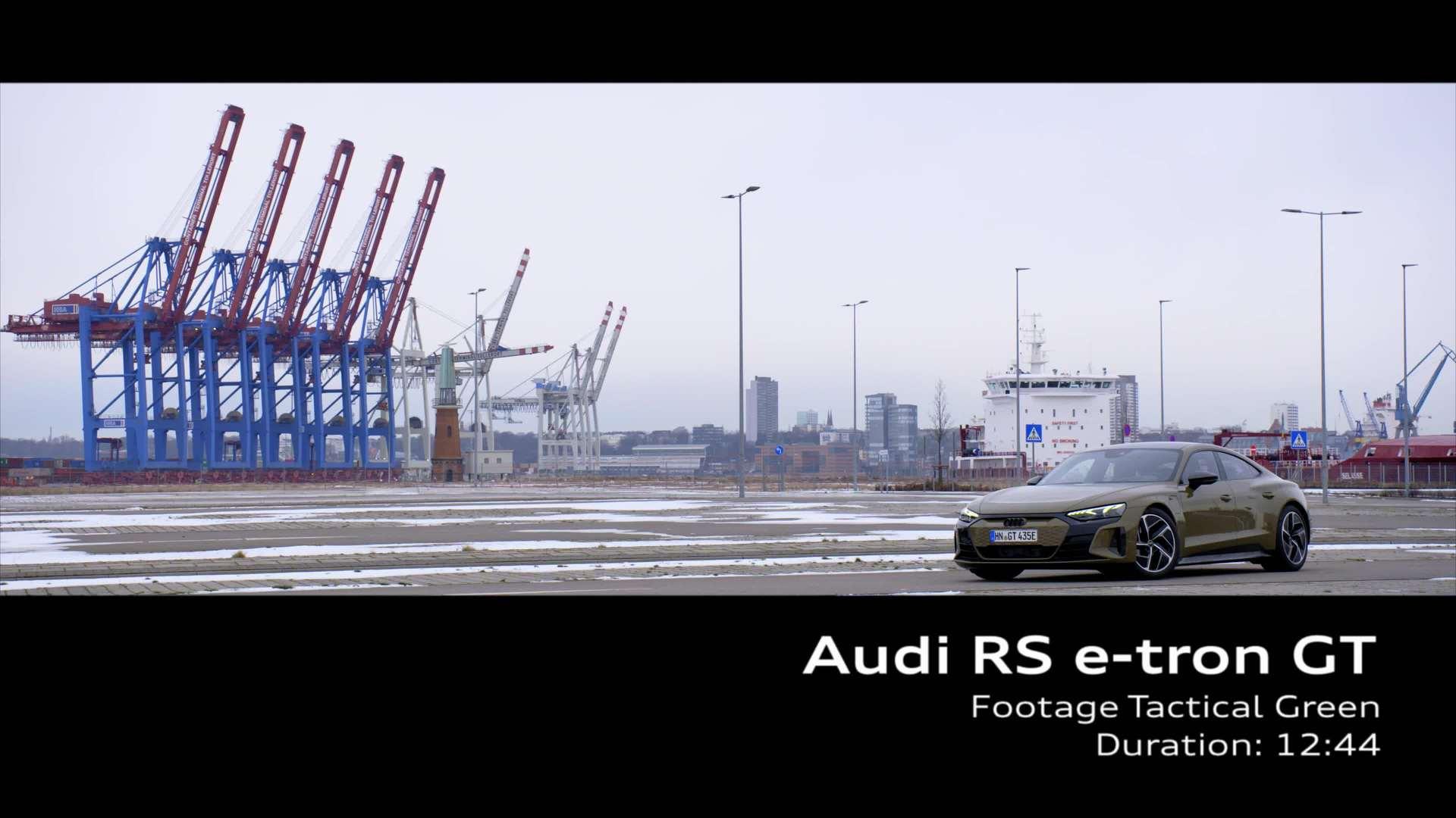 Footage: Audi RS e-tron GT Taktikgrün