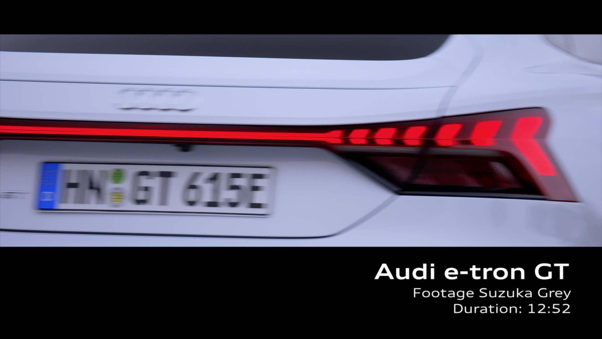 Footage: Audi e-tron GT Suzukagrau