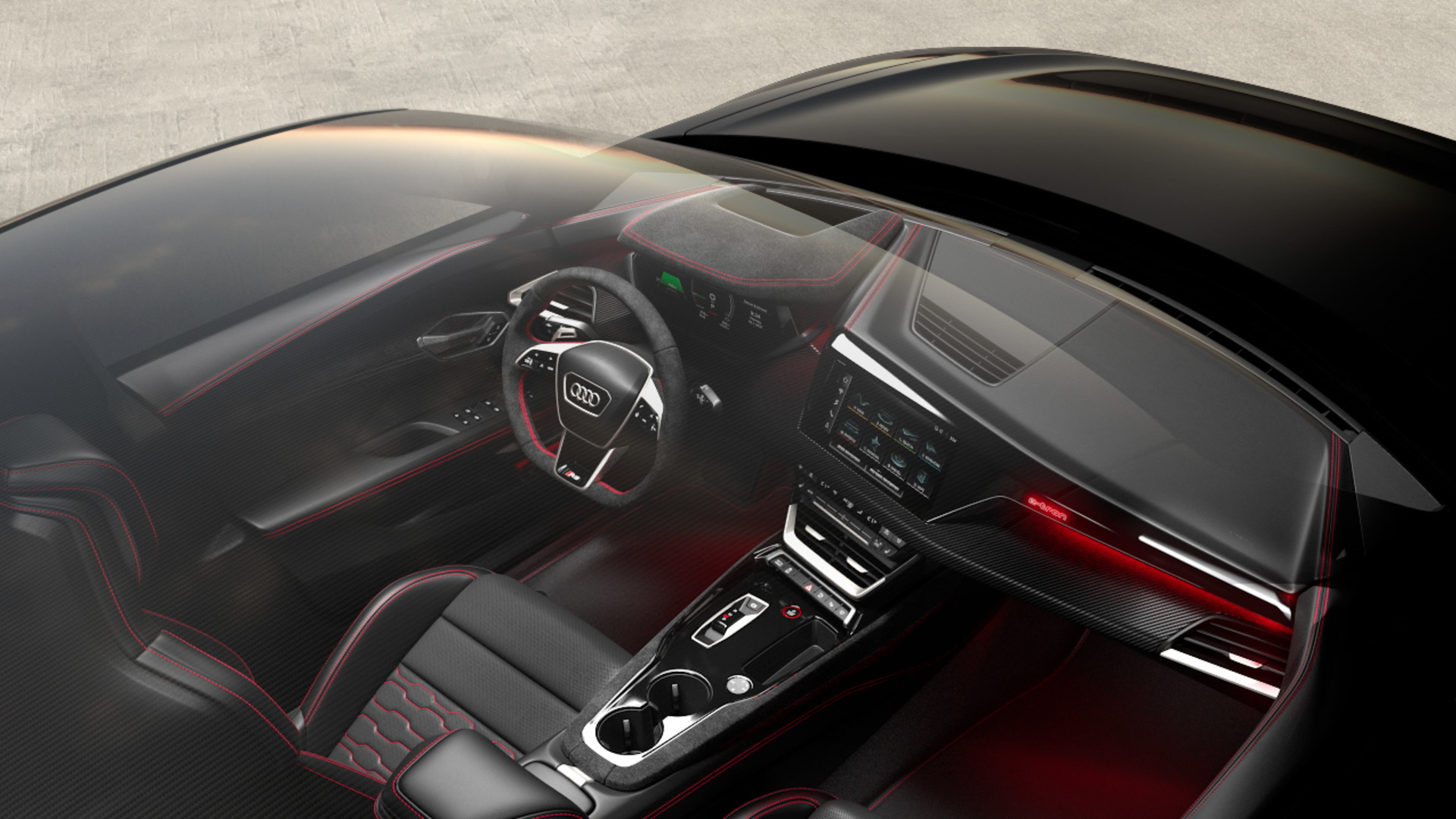 Animation: Audi RS e-tron GT – interior design and seating position