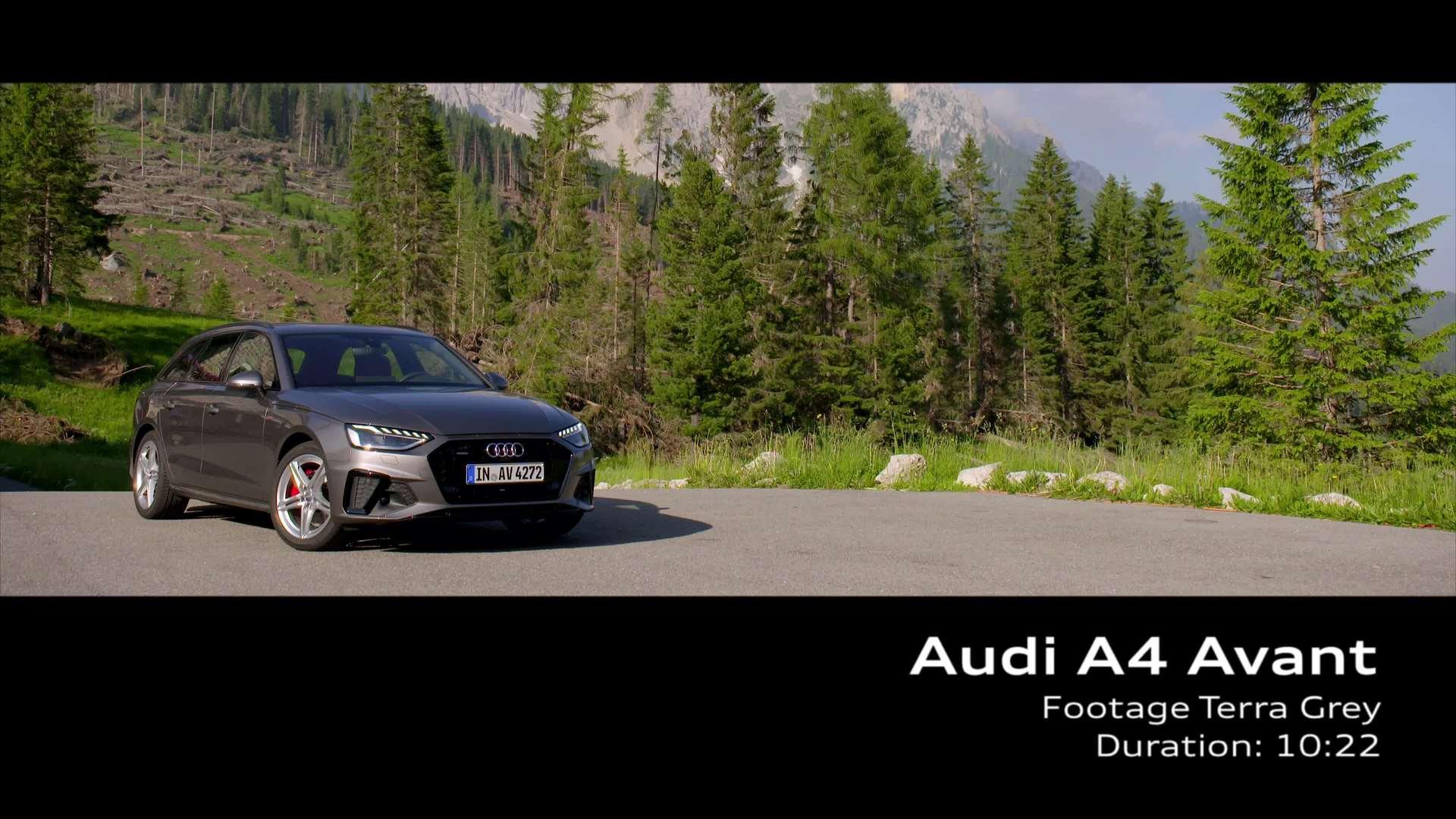 Audi A4 Avant TDI Footage Terra Grey (footage)