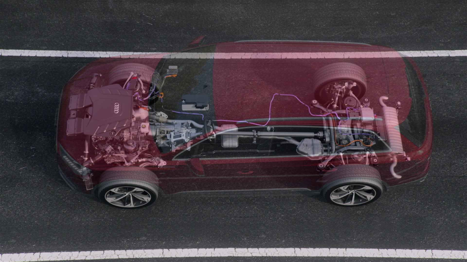 Audi Q7 Mild-Hybrid-System 48V (Animation)