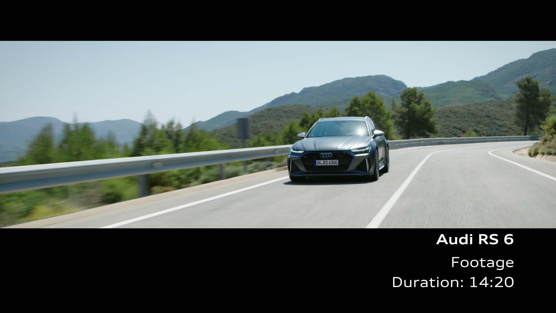 Audi RS 6 Footage dynamic