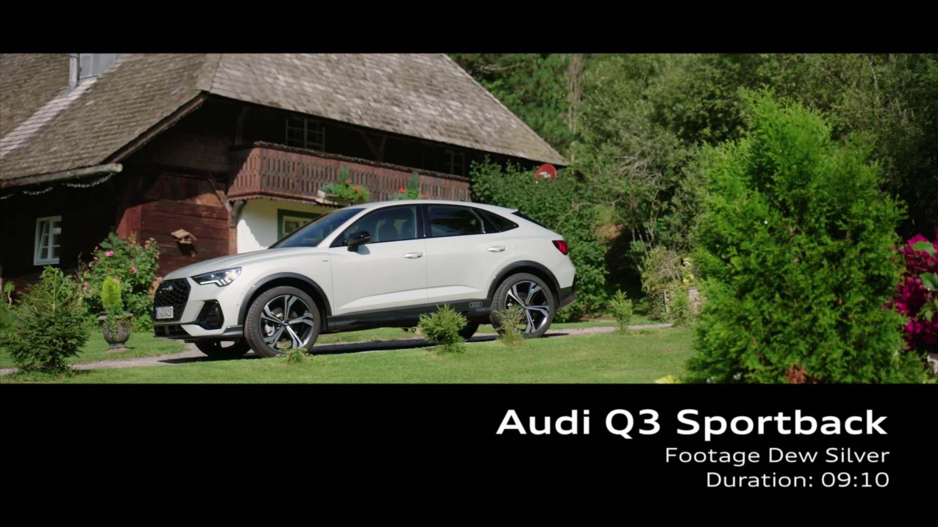 Audi Q3 Sportback Tausilber (Footage)
