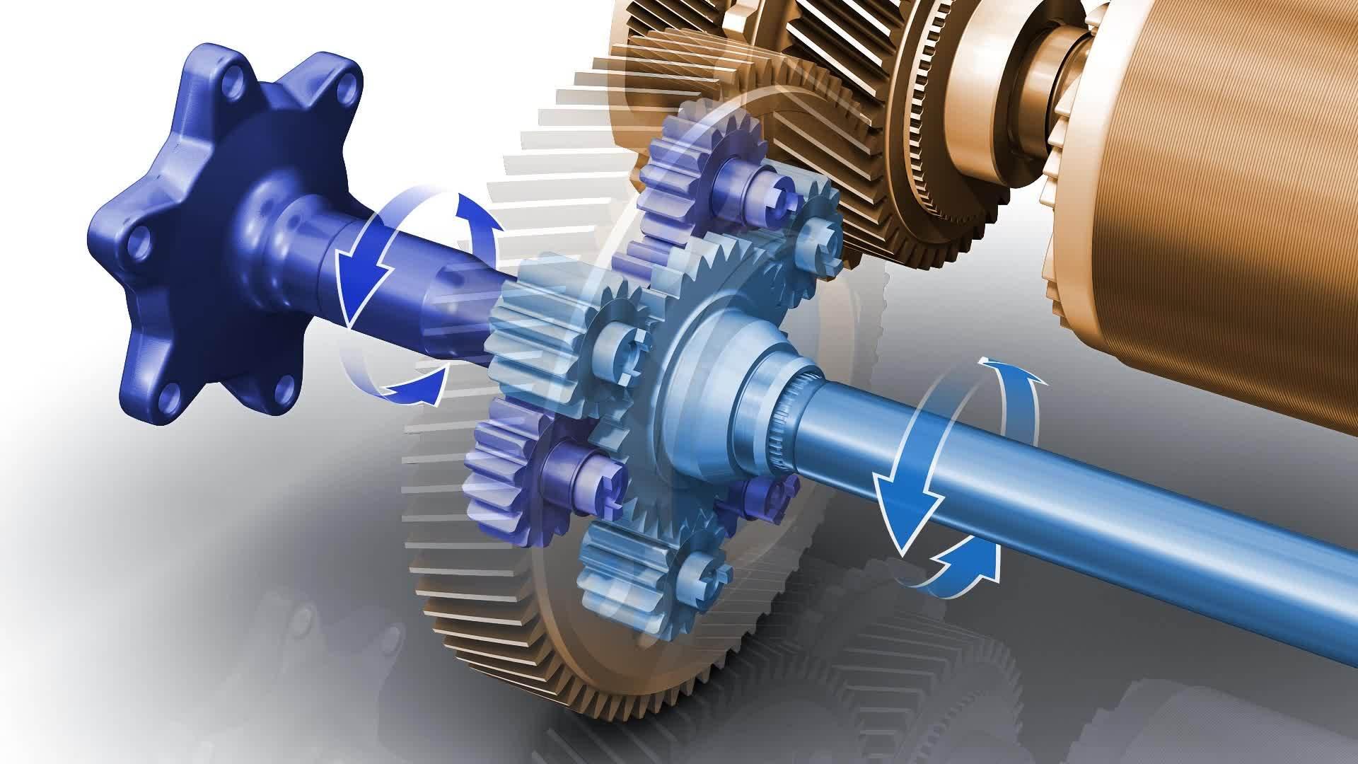 Audi e-tron Getriebe E-Motor (Animation )