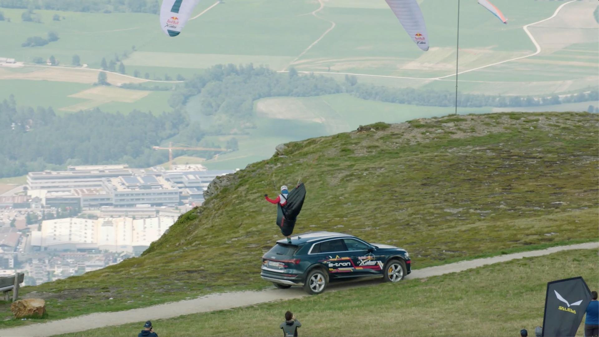 Extremsport am Limit: Audi e-tron bei den X-Alps