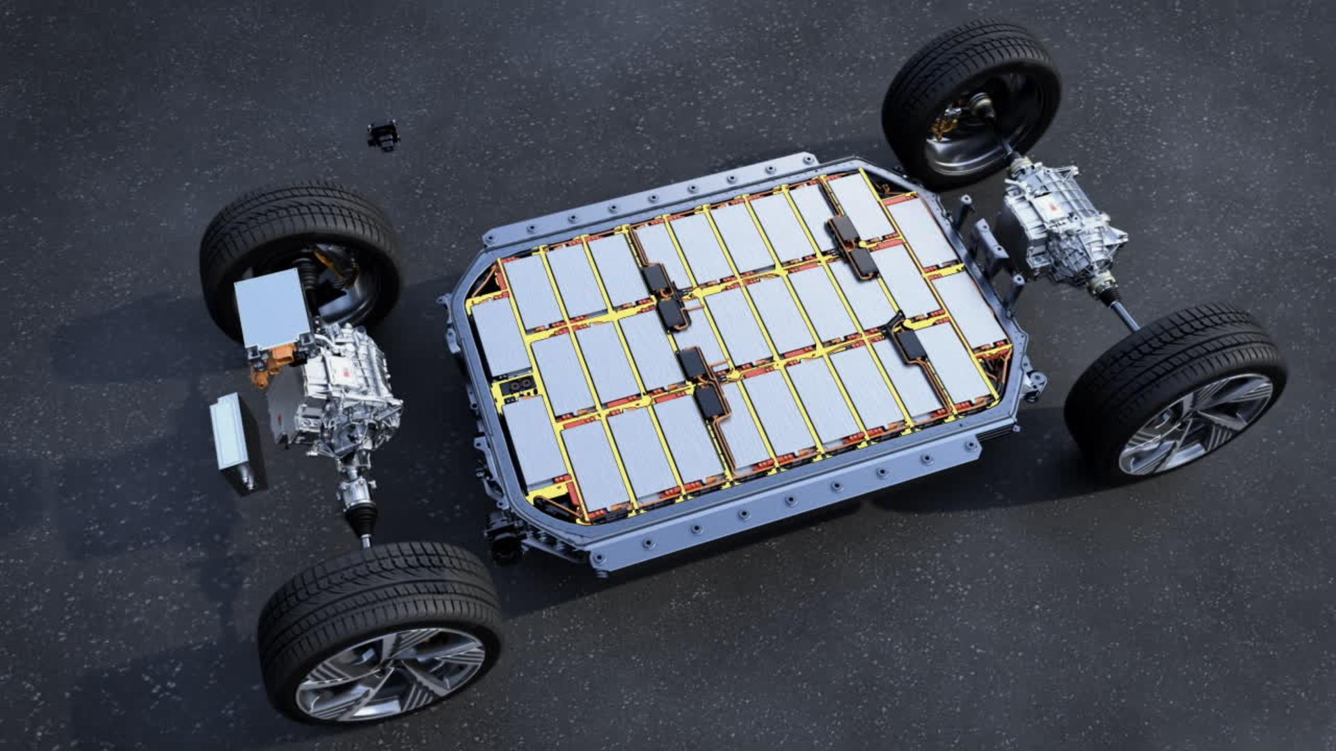 Animation: Batterie und Sicherheit im Audi e-tron Sportback