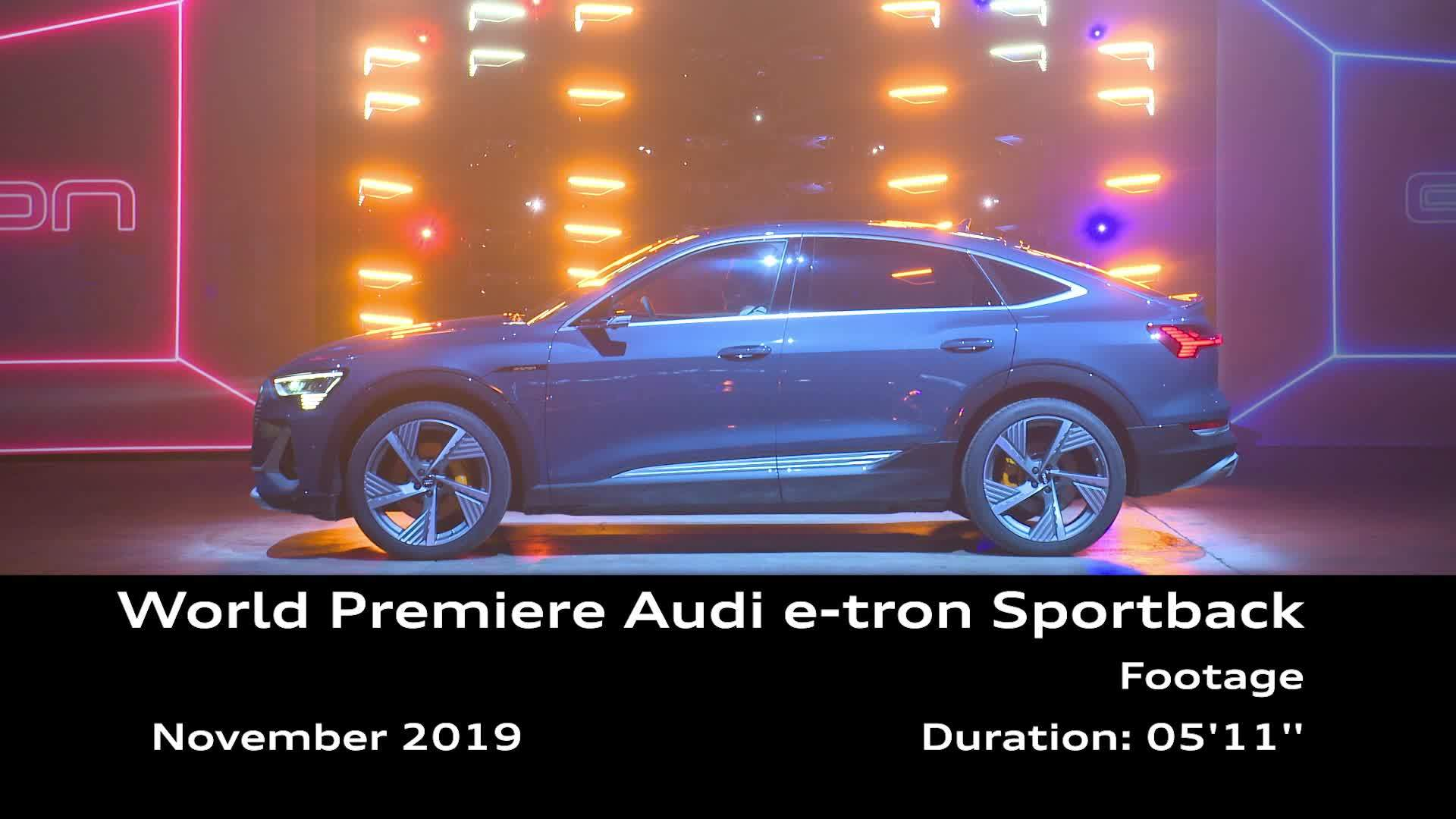 Footage: world premiere of the Audi e-tron Sportback in Los Angeles