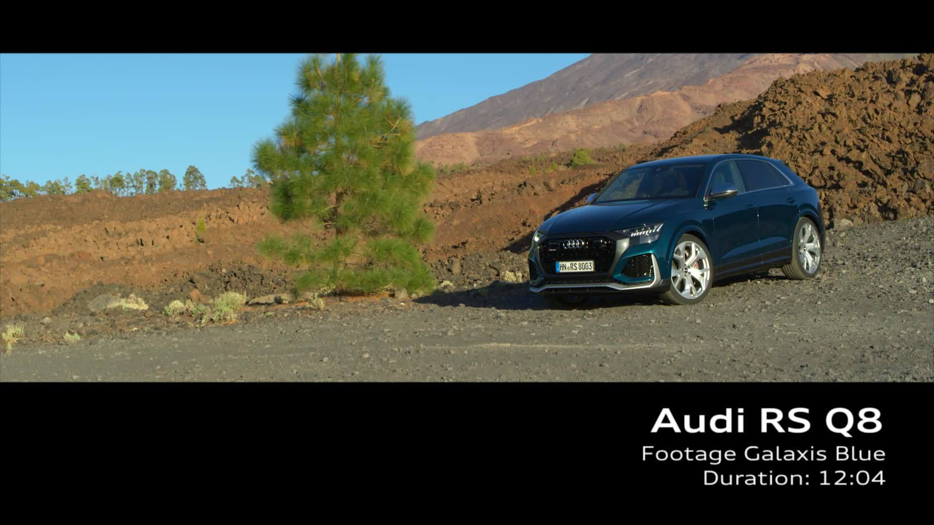 Audi RS Q8 on Location Galaxis Blue (Footage)