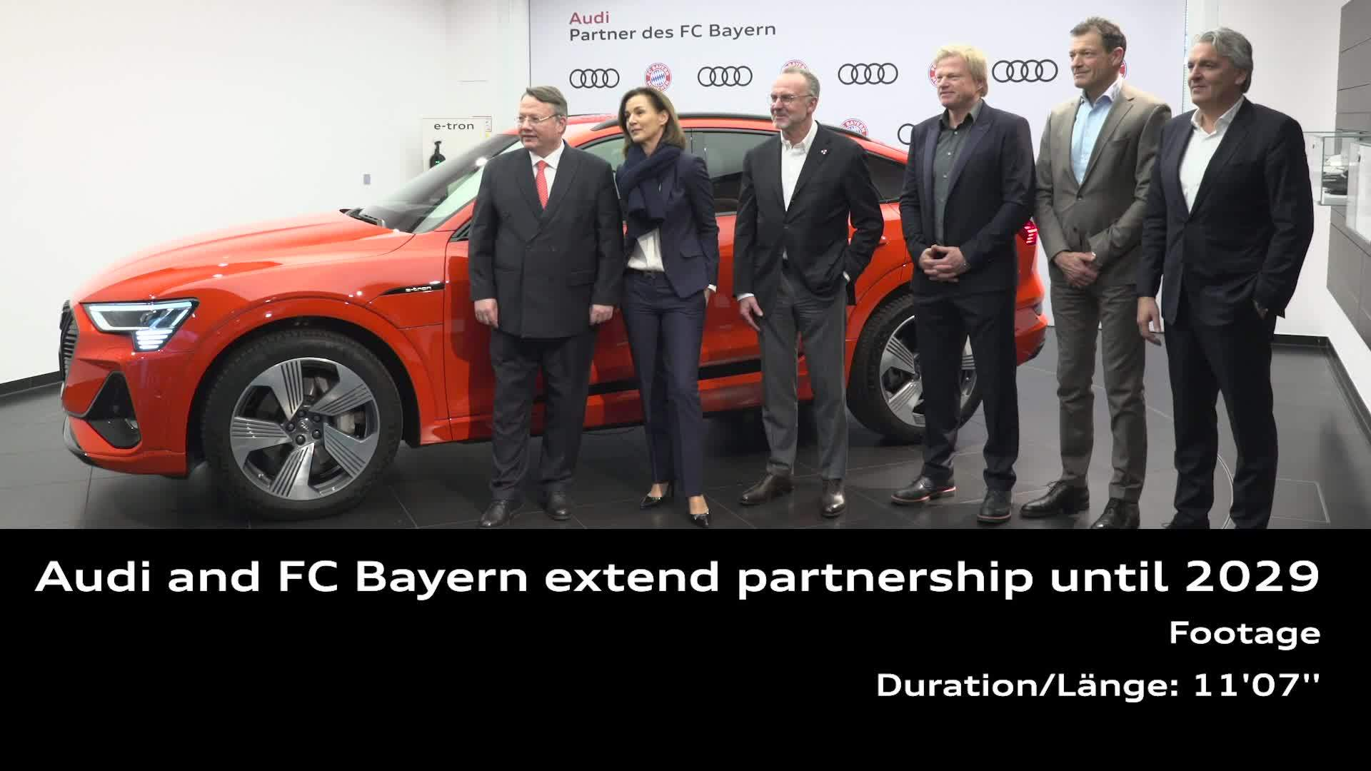 Extended partnership with the FC Bayern until 2029 (Footage)