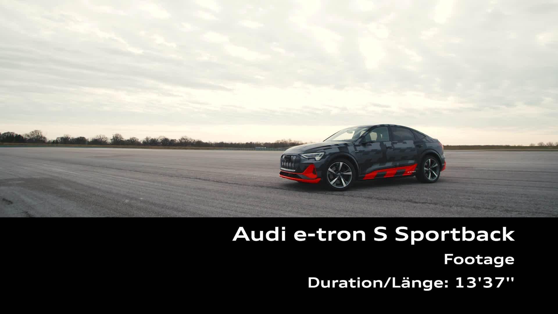 Footage: Audi e-tron S Sportback auf der Audi driving experience in Neuburg a.D.