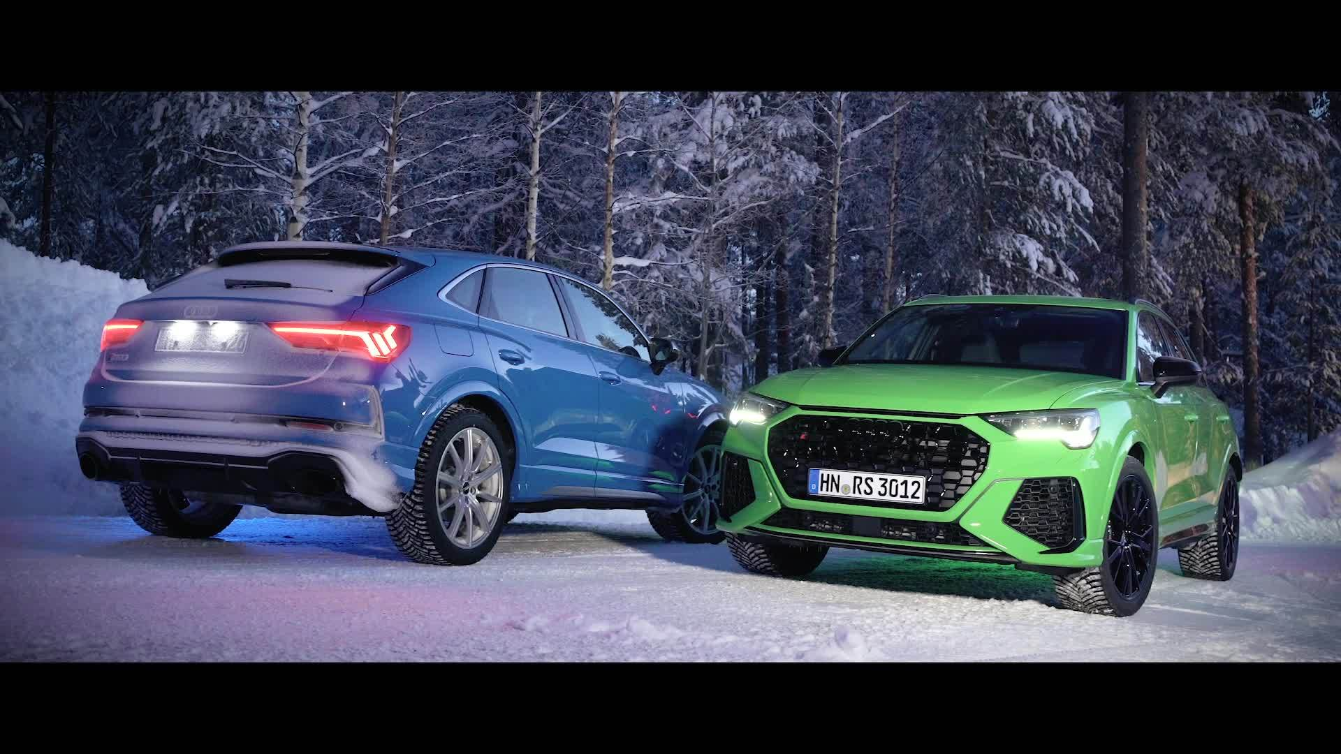 Audi RS Q3 und Audi RS Q3 Sportback on location
