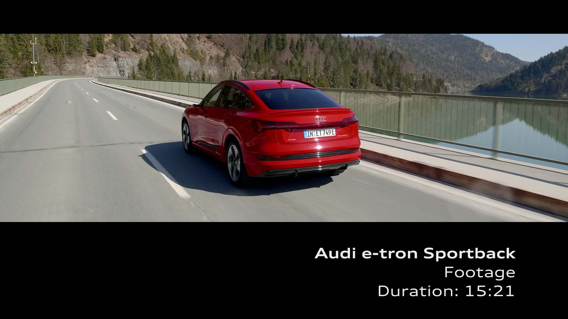 Footage: Audi e-tron Sportback Catalunya red metallic