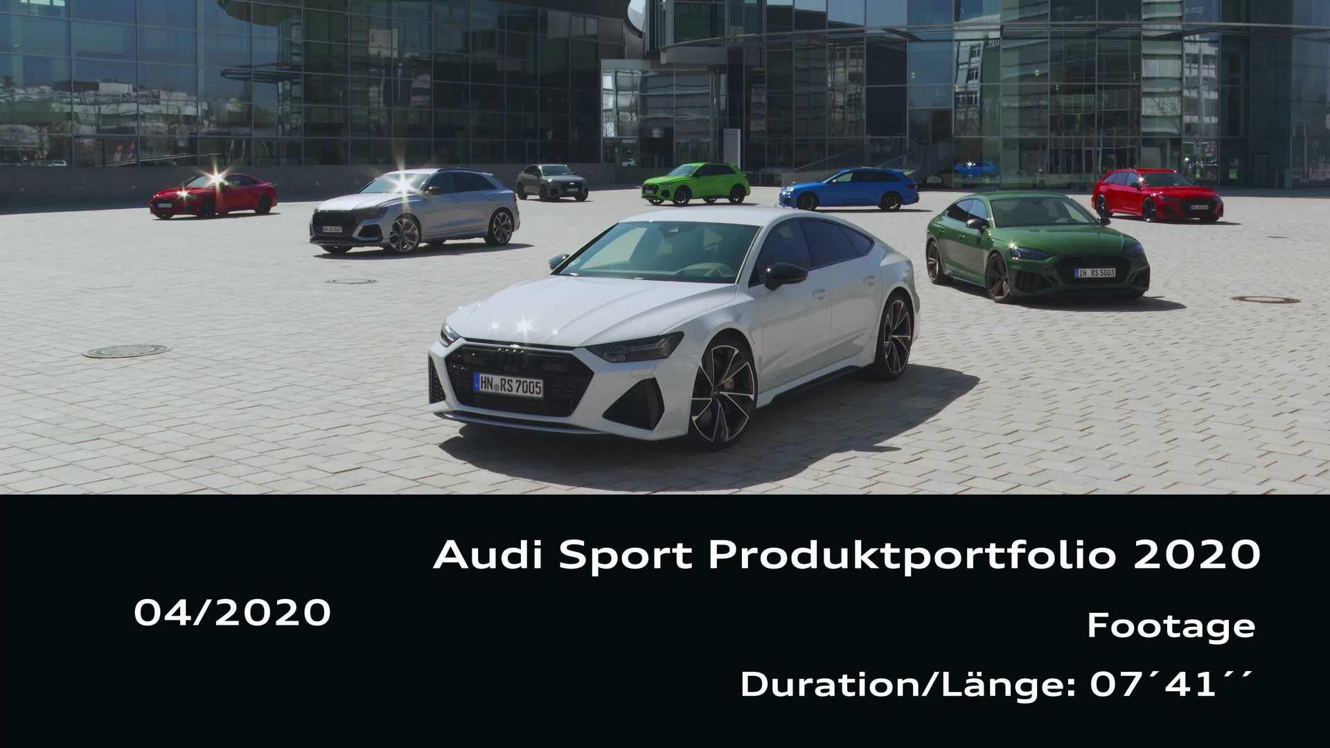 Footage: Audi Sport Produktportfolio 2020
