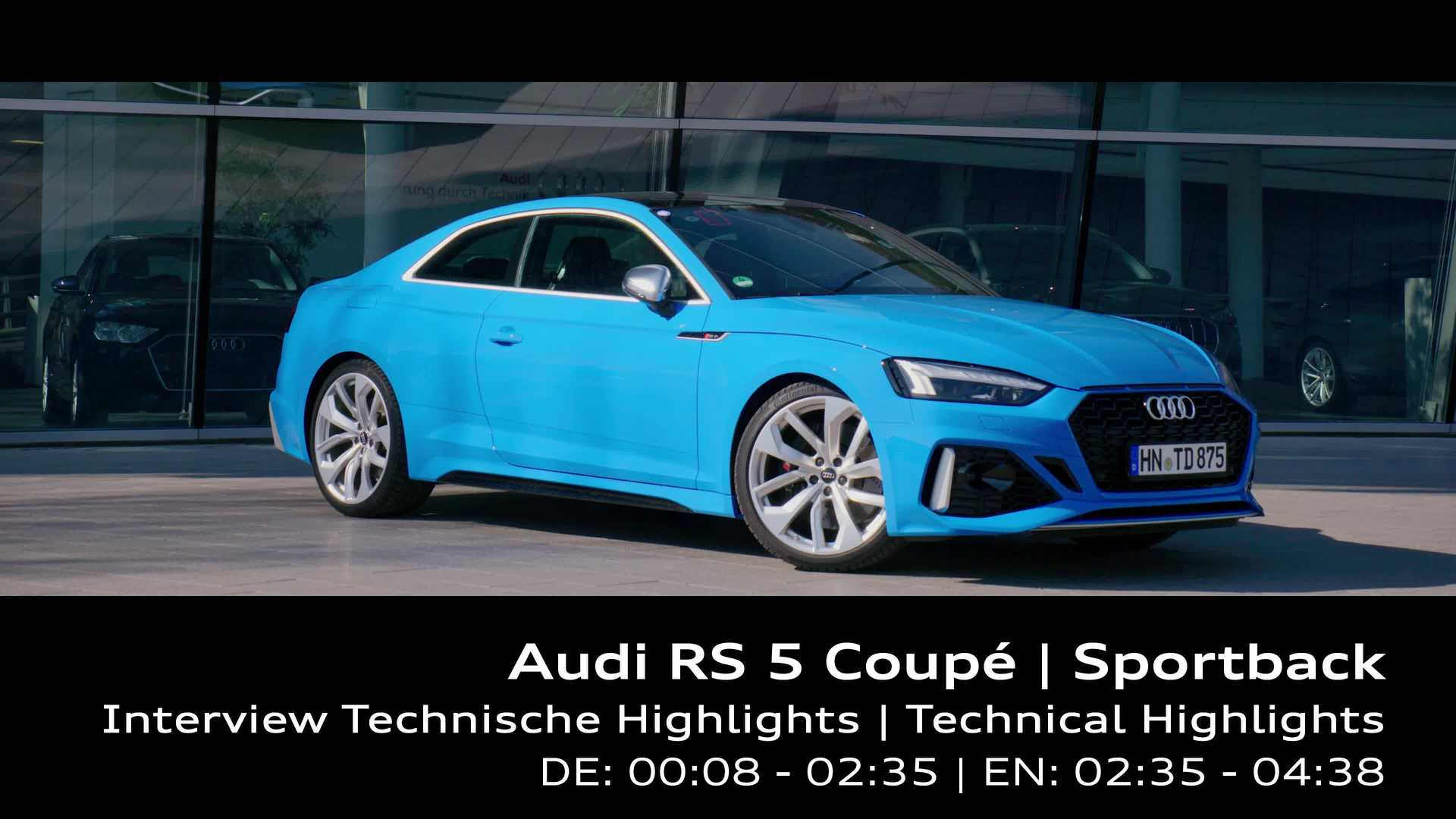 Footage: Audi RS 5 – technical highlights