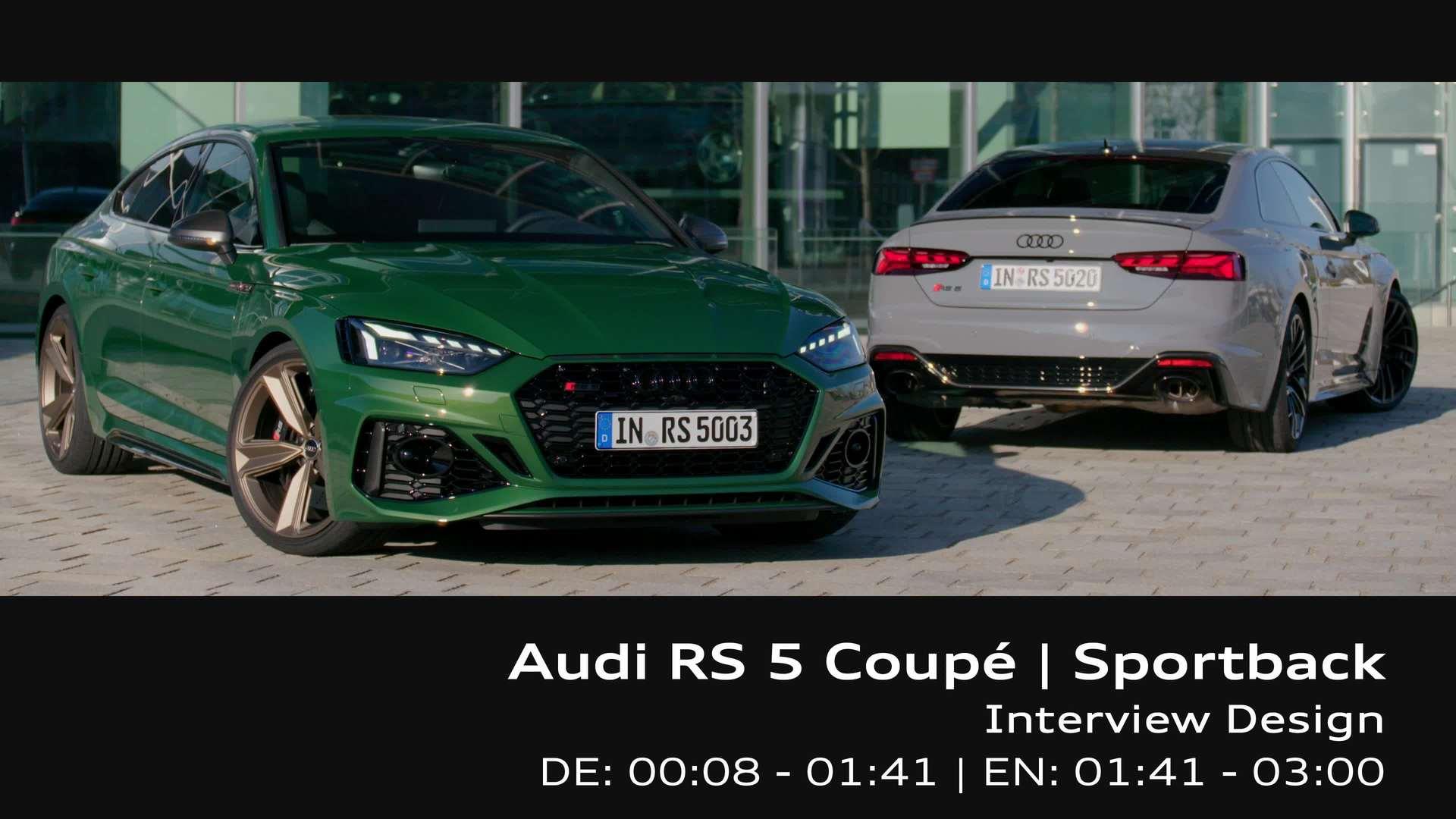 Footage: Audi RS 5 – Design