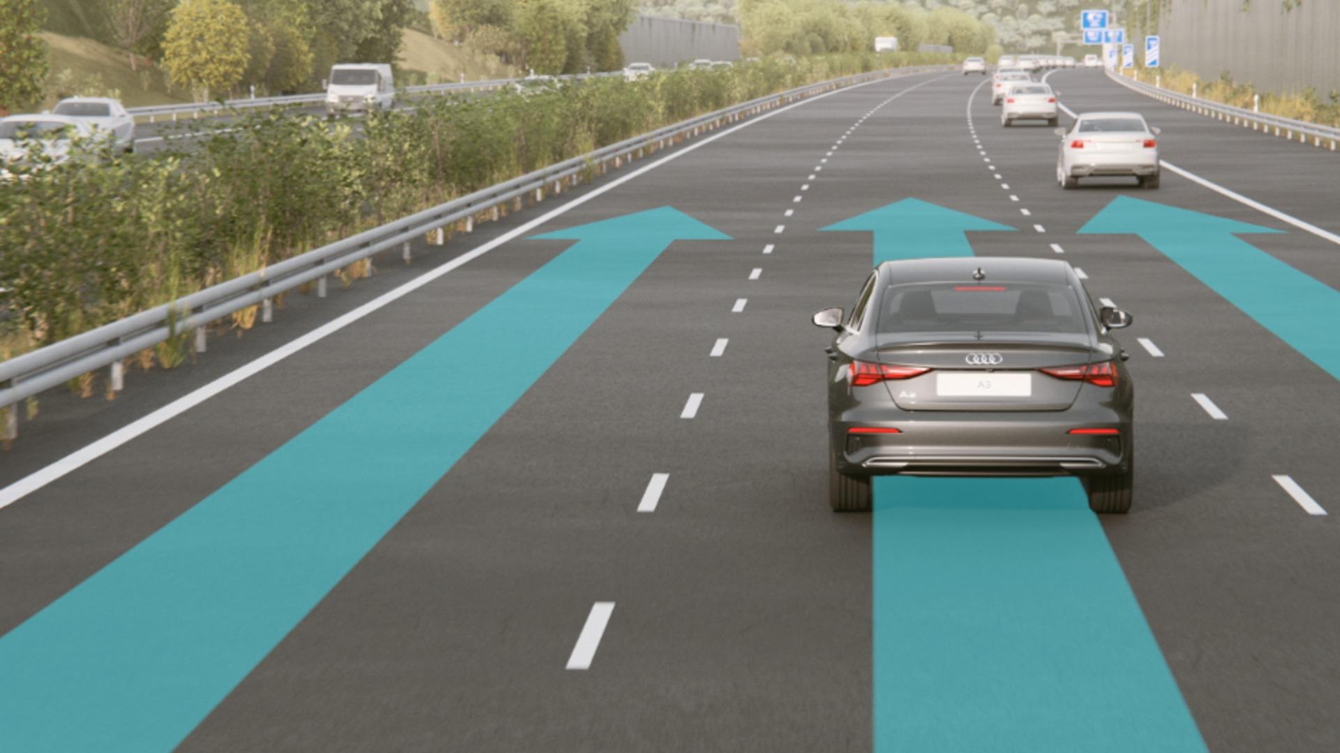 Animation Audi A3 Limousine – Navigation mit HD Traffic