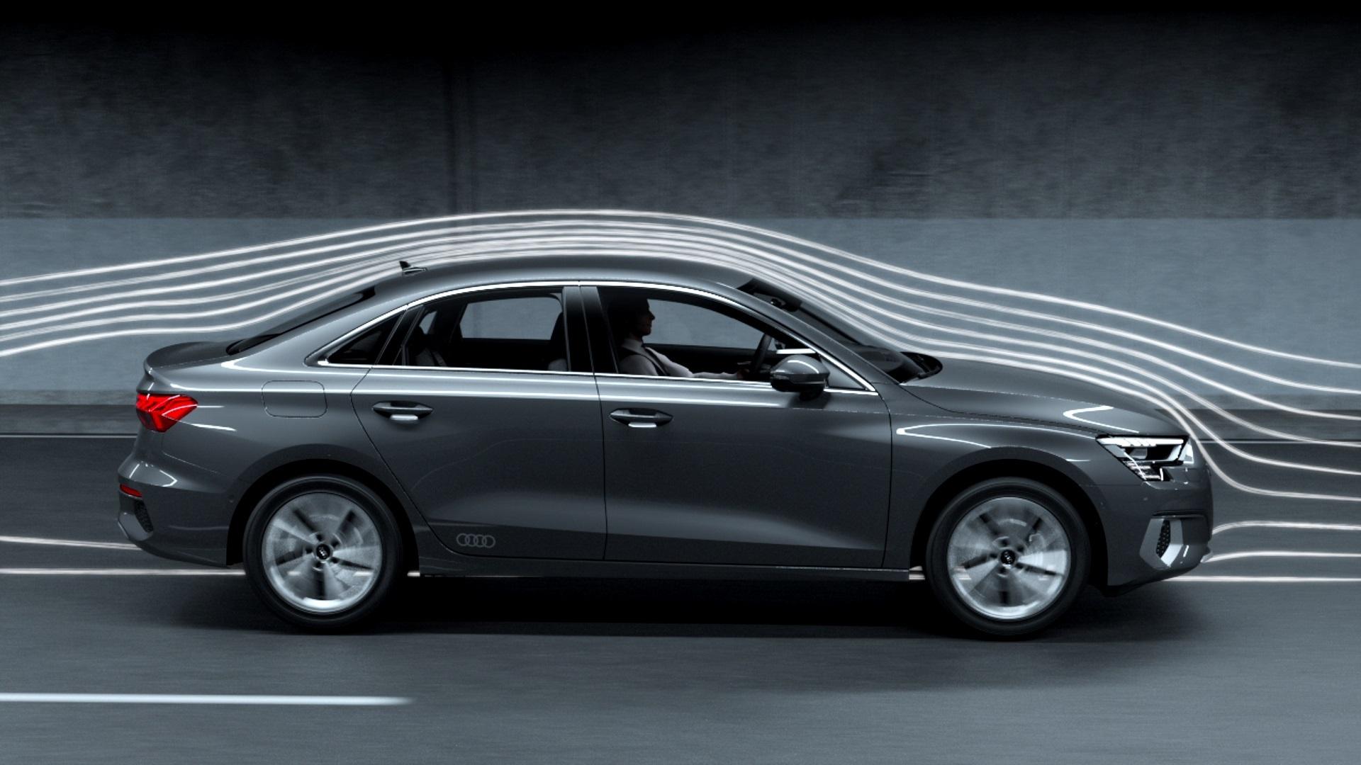 Animation: Audi A3 Limousine – Aerodynamik