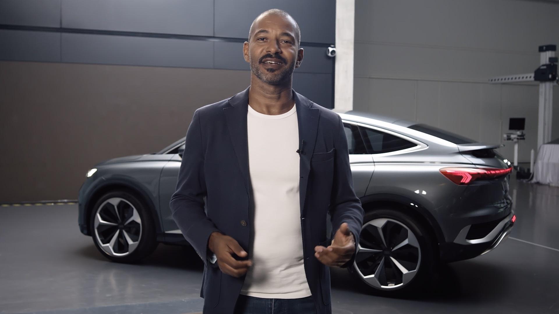 Weltpremiere – der Audi Q4 Sportback e-tron concept