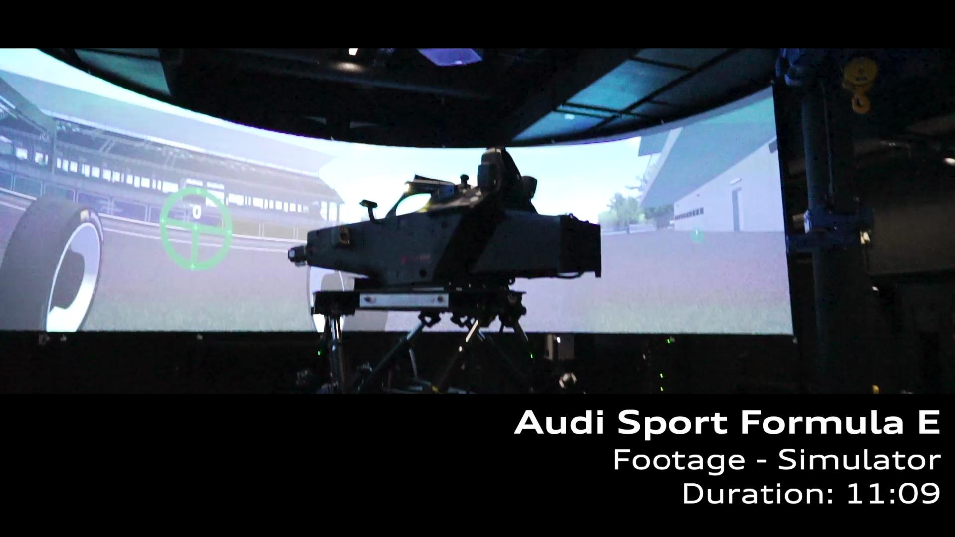 Footage: Audi Sport Formel E Simulator Neuburg