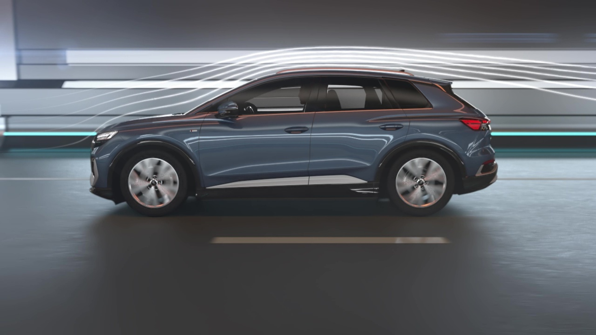 Animation: Aerodynamics of the Audi Q4 e-tron
