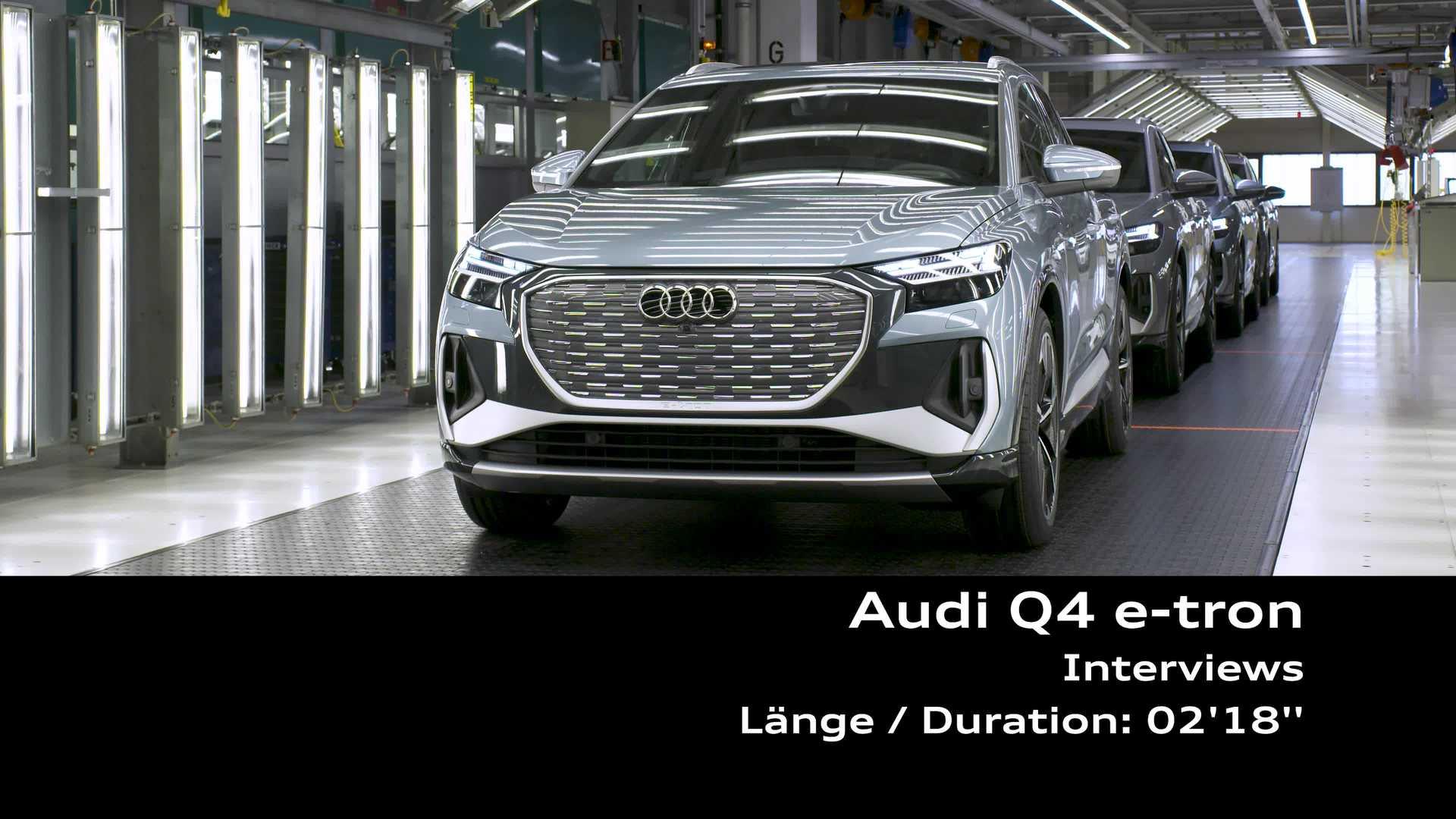 Footage: Audi Q4 e-tron - Interviews Peter Kössler, Thomas Haimerl, Dirk Greifeld