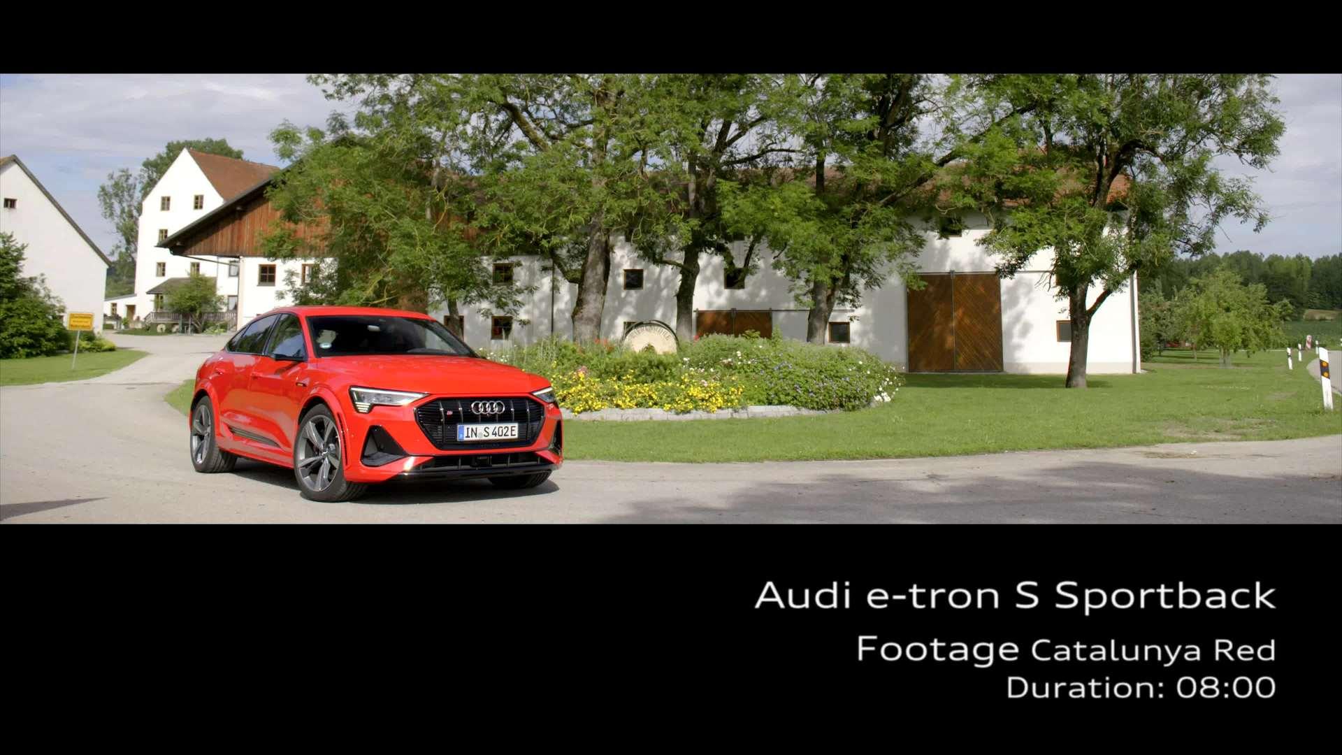 Footage: Audi e-tron S Sportback – catalunya red