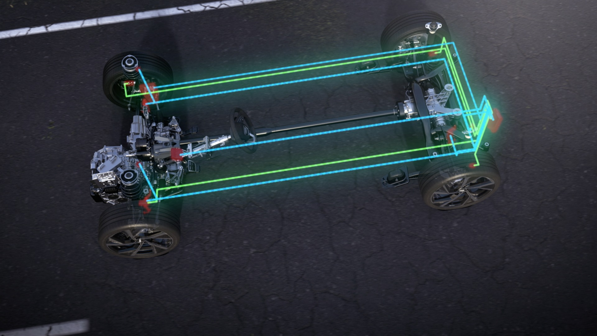 Animation: Audi S3 Sportback – adaptive suspension