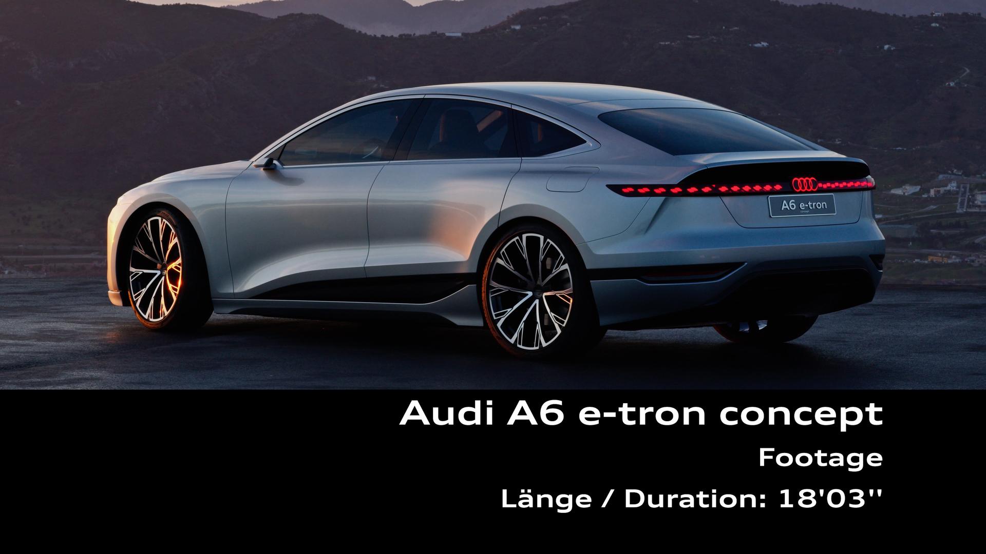Footage: Audi A6 e-tron concept