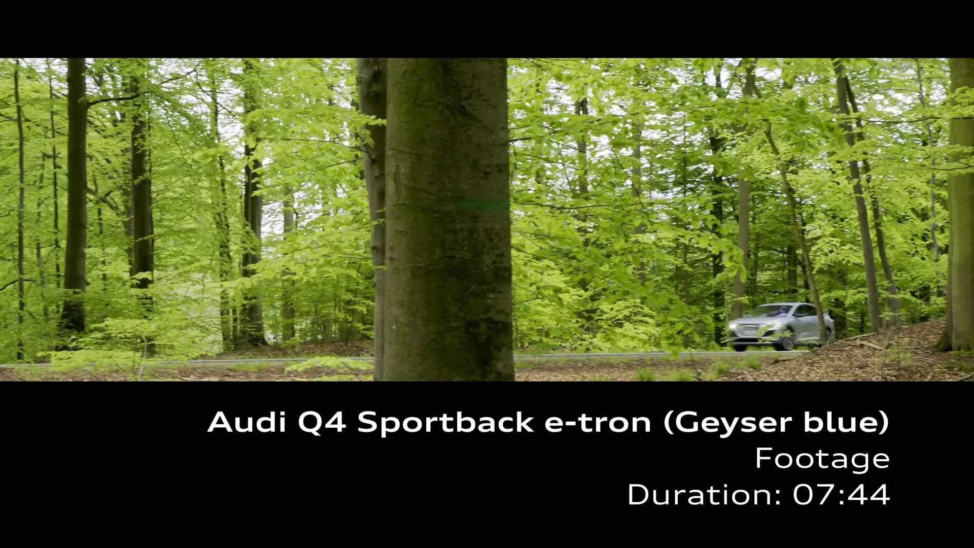 Footage: Audi Q4 Sportback e-tron – Geysirblau
