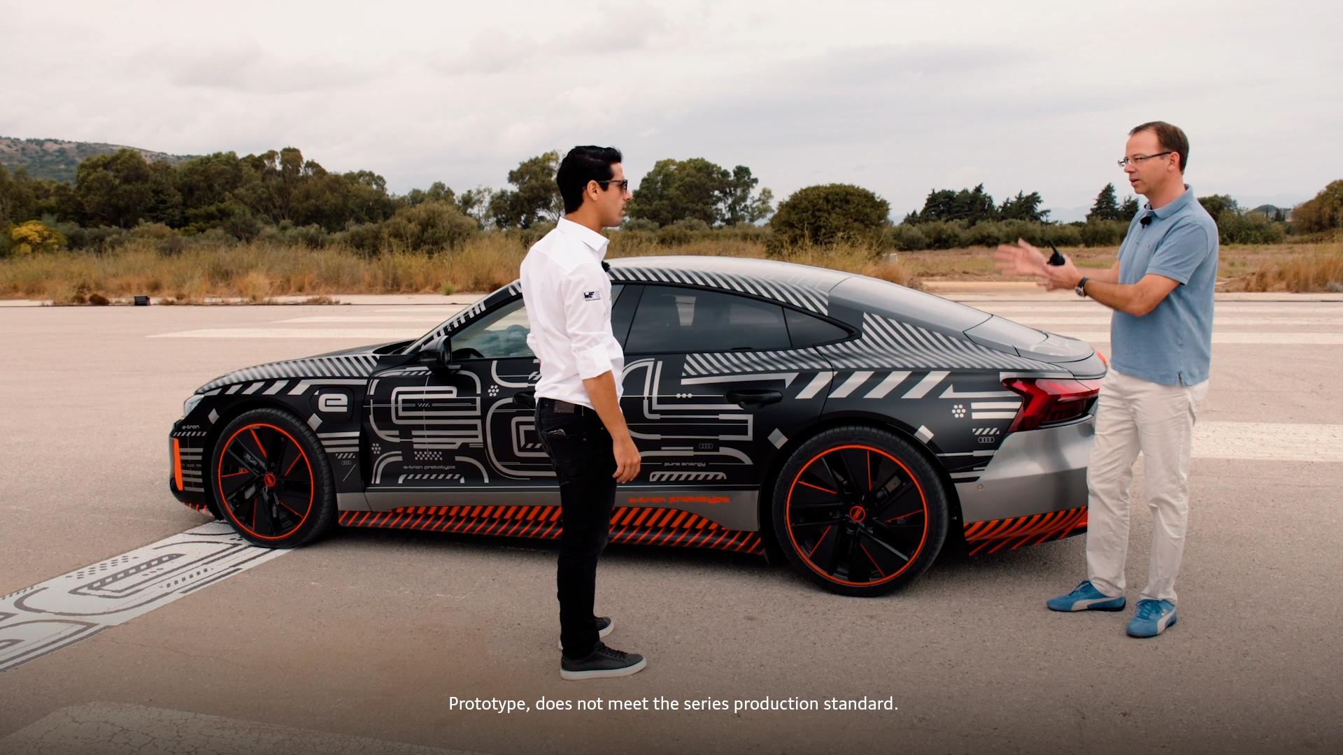 Audi RS e-tron GT prototype with Lucas di Grassi – dynamics part 1