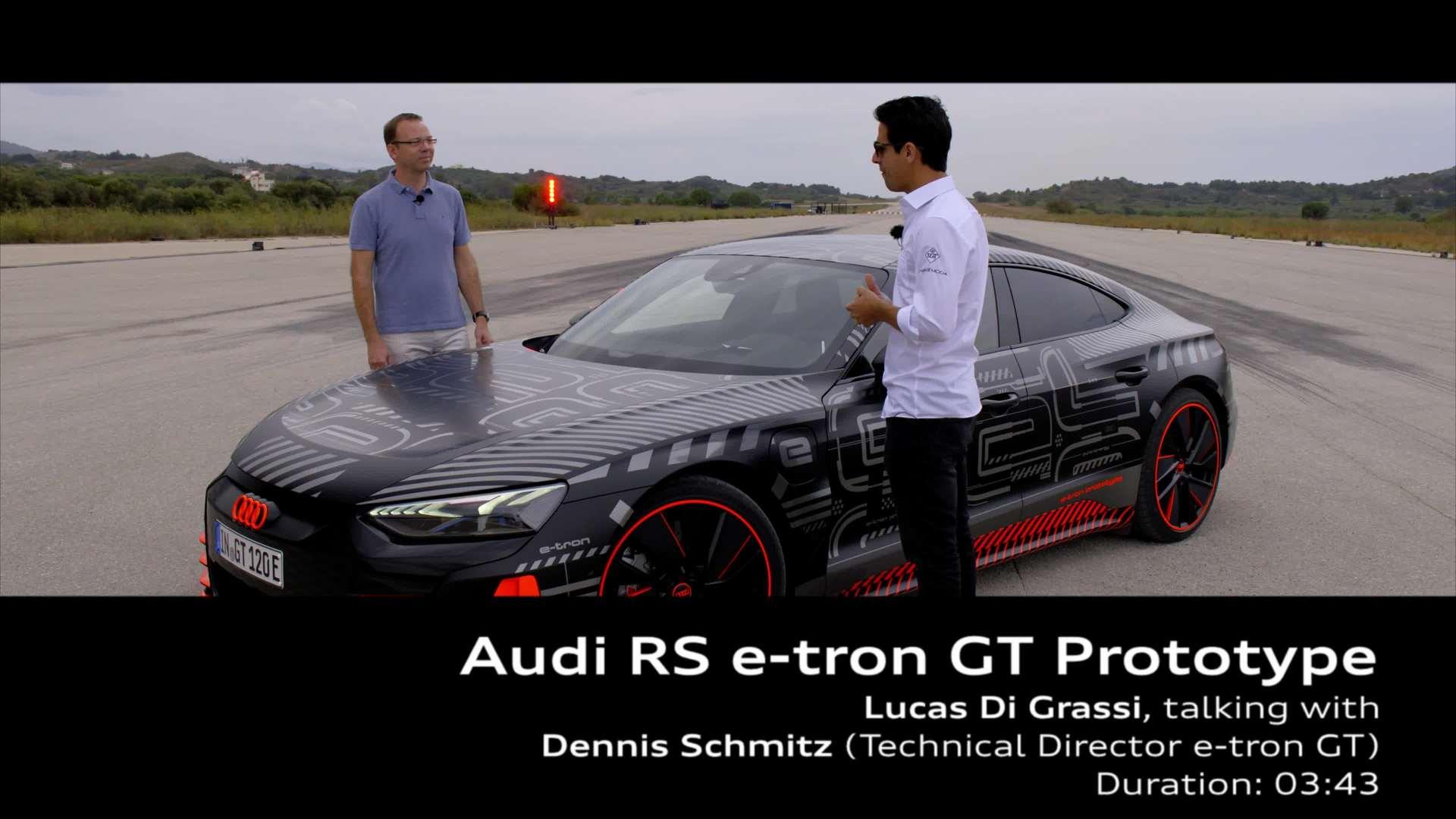Lucas Di Grassi and Dennis Schmitz about the Audi RS e-tron GT Prototype