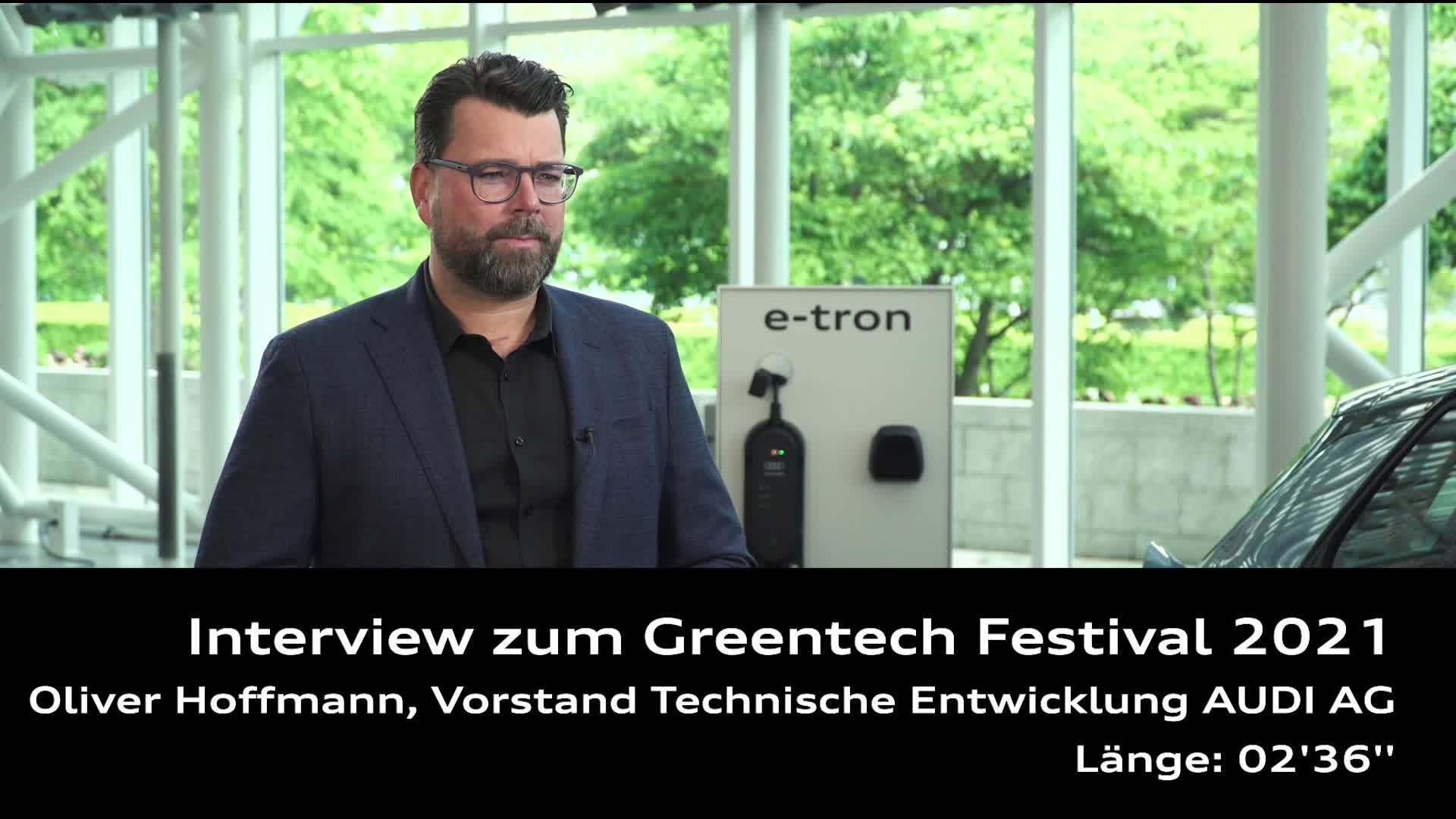 Interview zum Greentech Festival 2021 mit Oliver Hoffmann