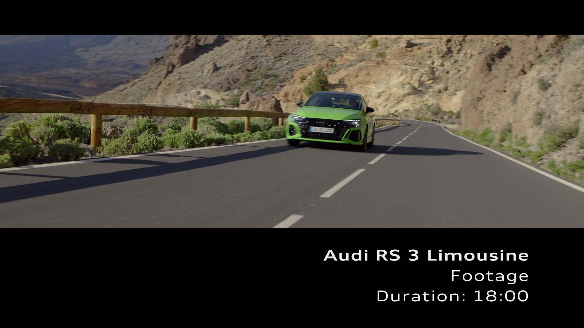 Footage: RS 3 Sedan on Location